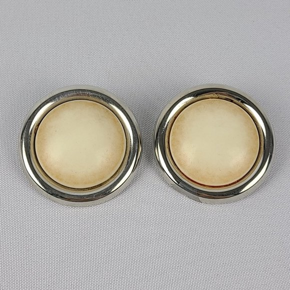 Vintage Round Statement Clip On Earrings